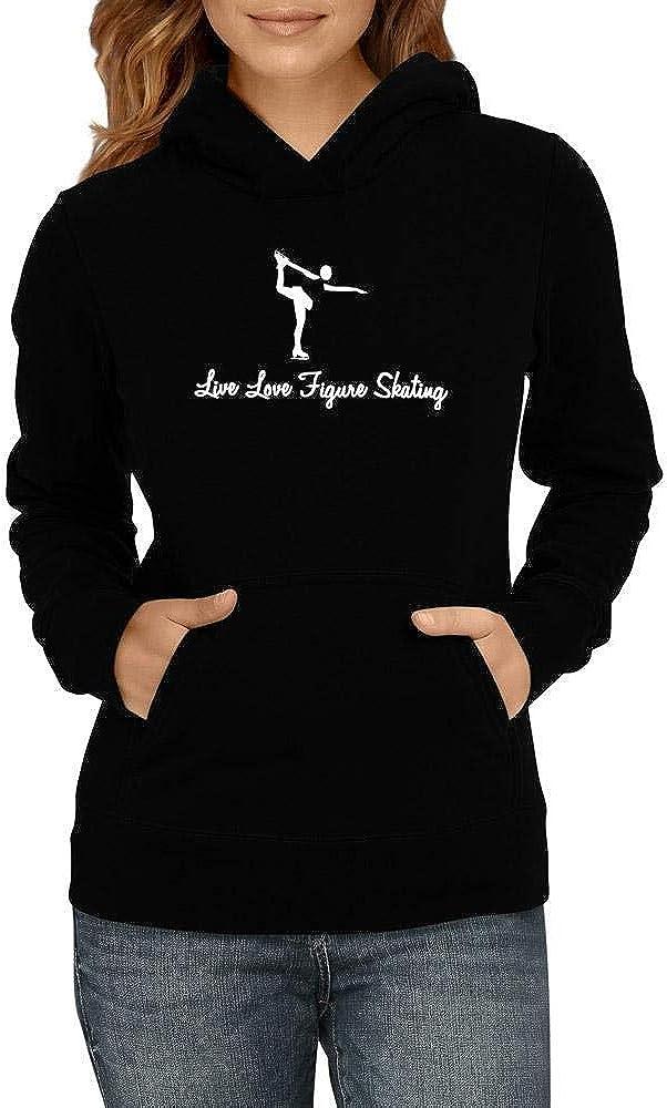 Idakoos Live Love Figure Skating Women Hoodie