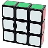 I-xun Smooth and Speed 1x3x3 Magic Cube Sticker Puzzle, (2.24 x 2.24 x 0.75 inches - Black)