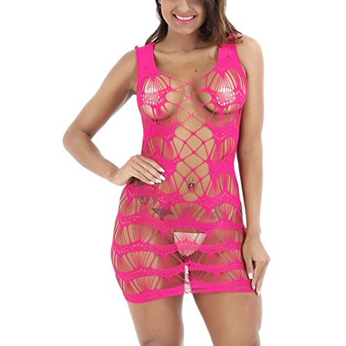 Affascinante Babydoll Body Rosa a Lingerie Mesh Collant Mini Dragon868 Dimensione Rete Rete Libero Caldo Donna Dress Gonna Seducente Ux5vWwfq1