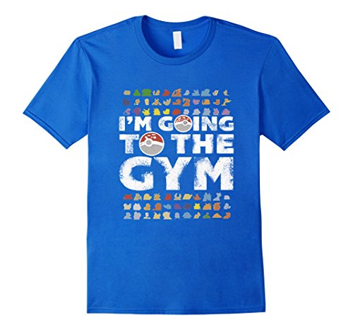 Men's I'm going to the GYM Poke go T Shirt 2XL Royal Blue