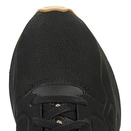 Le Coq Sportif Hombres Negro LCS R9XX S Nubuck Zapatillas