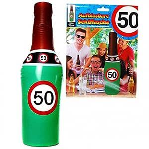 Cumpleaños hinchable Botella de champán 50 años Señal de ...