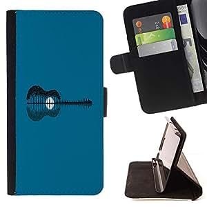 Momo Phone Case / Flip Funda de Cuero Case Cover - Extracto de la guitarra;;;;;;;; - HTC One M9