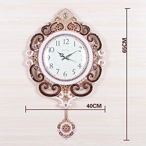 GRJH® ヨーロッパスタイルのリビングルームクリエイティブウォールクロック農村の金属スイング時計現代ミュートクォーツ時計 クリエイティブファッションシンプル ( 色 : #2 ) B07CN4G3CC#2