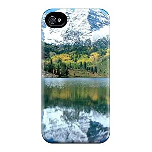 Premium Durable Snow Capped Maroon Bells White Fashion Iphone 6 Protective Cases Covers