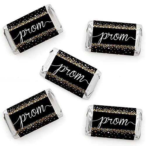 Prom - Mini Candy Bar Wrapper Stickers - Prom Night Party Small Favors - 40 Count]()