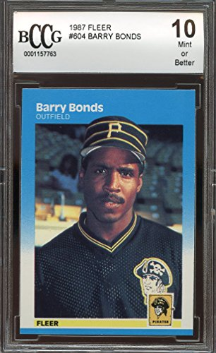 1987 fleer #604 BARRY BONDS pittsburgh pirates rookie car...