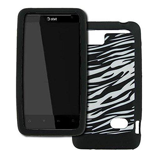EMPIRE HTC Holiday Schwarz and Weiß Zebra Stripes Design Silicone Skin Case Tasche Hülle Cover