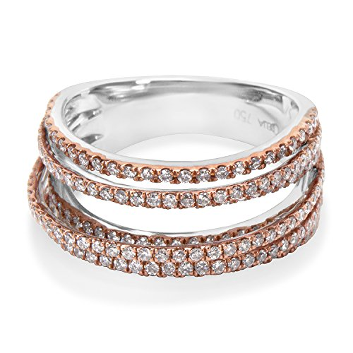 BRAND NEW Diamond Ring in 18K Two Tone Gold (0.86 CTW) by Loved Luxuries