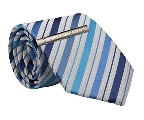 Mens Blue Stripe Tie and