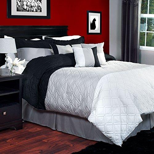 Lavish Home 7-Piece Emma Comforter Set, Queen