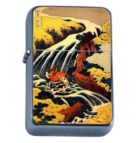Autumn Leaves Gift Box (Japan Woodblock Autumn Leaves Windproof Refillable Flip Top Oil Lighter with Tin Gift Box D-164)