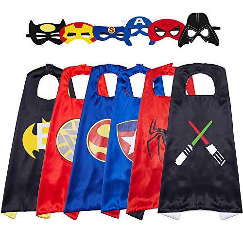 Totteri Superhero Capes and Masks for Kids Dress Up Costumes,Fun Cartoon Party Favor Cosplay Toy - Best Gifts Christmas