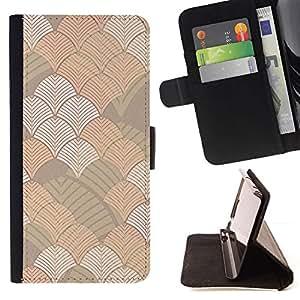 Pastel Geometric Wallpaper - Modelo colorido cuero de la carpeta del tirón del caso cubierta piel Holster Funda protecció Para Apple (4.7 inches!!!) iPhone 6 / 6S