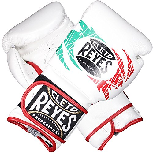 Cleto Reyes Hook and Loop Closure Training Gloves White/Red/Green 16 oz.
