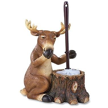 Woodland Moose Toilet Brush Holder