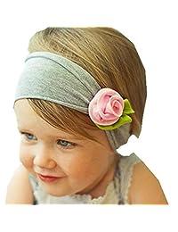 Susenstone Lovely Baby Kids Girls Infant Toddler Headband Bow Flower Hair Band Headwear (Pink)