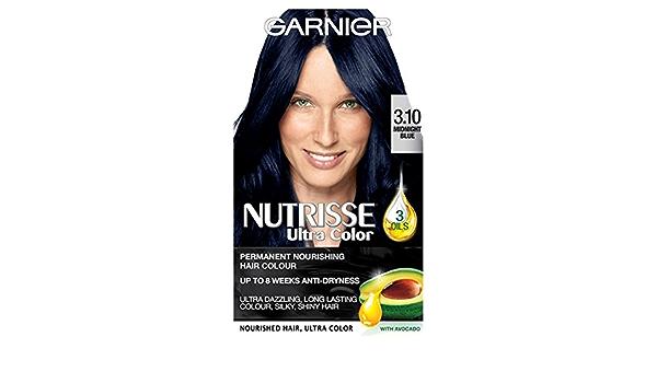 Garnier Nutrisse Ultra color permanente 3,10 Midnight azul ...