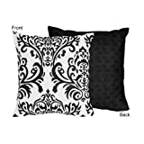 Sweet Jojo Designs Black and White Isabella Decorative Accent Throw Pillow