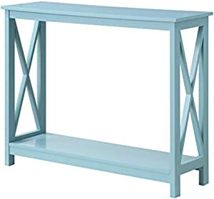 Convenience Concepts Oxford Console Table, Sea Foam