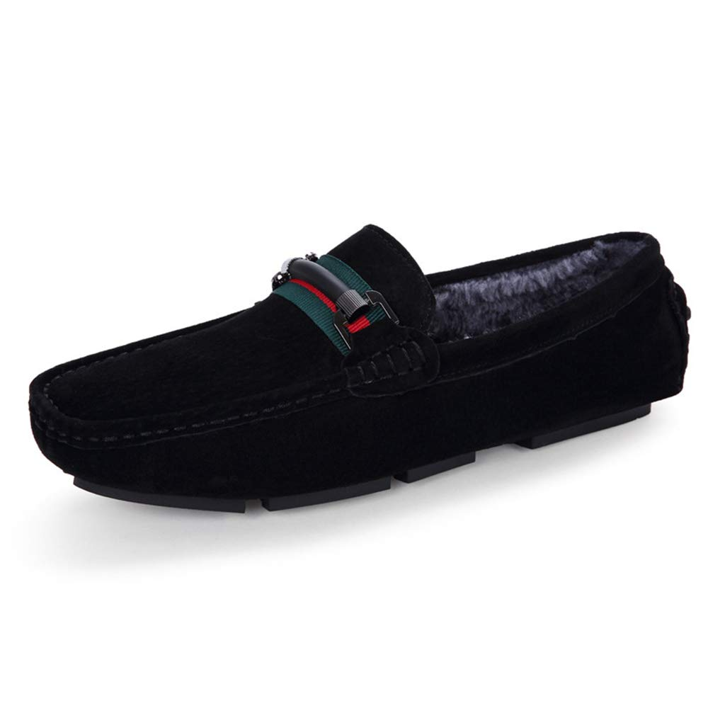 4e53bcf4044 ALLAK Mens Slip On Loafers Suede Driving Penny Loafer Moccasins Dress Flats  Boat Shoes(Black-Lable 42 8 D(M) US Men  Amazon.ca  Shoes   Handbags