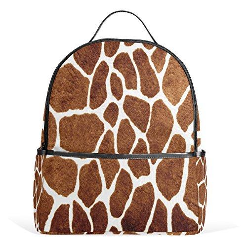 Use4 Giraffe Spot Animal Print Polyester Backpack School Travel Bag