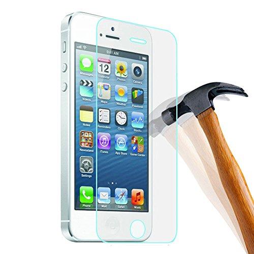 PLT24® 0,3mm 9H Hartglas / Panzerglas / Displayschutzglas / Tempered Glass / Panzer Glas Folie / Schutzglas / Echt Glas / Verbundenglas / Glasfolie für iPhone 4 / iPhone 4S
