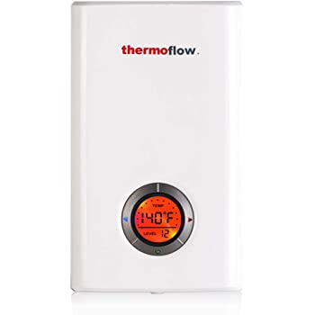 thermoflow elex 12 tankless water heater electric 12kw at 240 volts instant hot water heater with self modulating temperature technology
