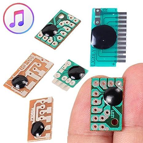 6pcs 6 tipo módulo de Chip de sonido voz música IC alarma ...