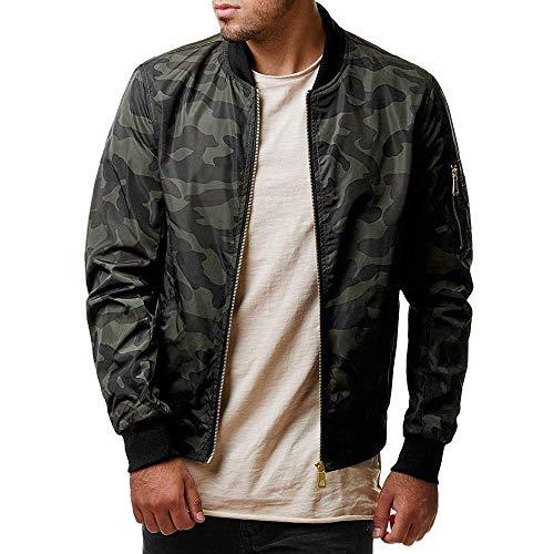 BingYELH 2019 Men Fashion Winter Jacket,Men's Casual Military Zip Up Bomber Jacket Army Coat Cotton Jackets