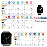 Bluetooth Smart Watch With Camera TF/SIM Card Slot for Android and IPhone Smartphones Waterproof Smartwatch Touch Screen for Kids Girls Boys Men Women