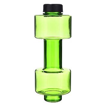 geshiglobal - Botella de Agua con Forma de mancuerna (plástico, 550 ml), Verde: Amazon.es: Deportes y aire libre
