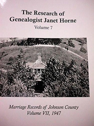 Read Online Marriage Records of Johnson County, Volume VII pdf epub