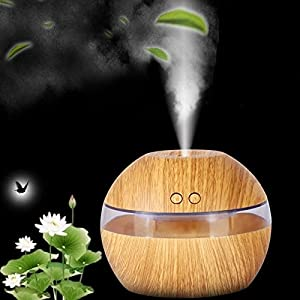 LED Ultrasonic Aroma Diffuser Essential Oil Humidifier Air Aromatherapy Purifier Khaki color