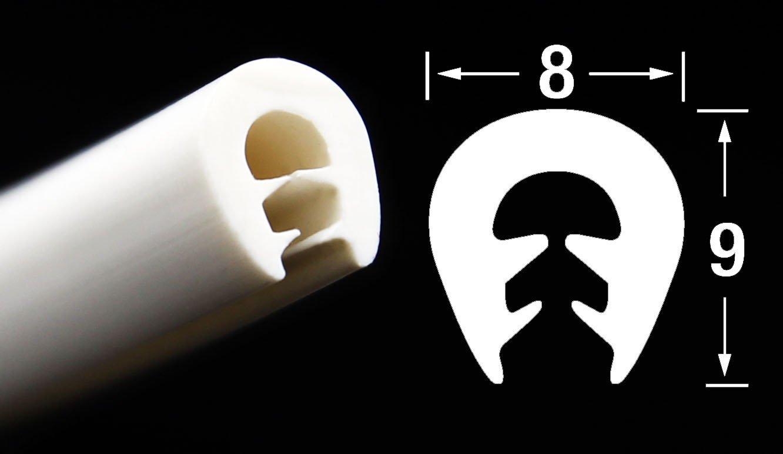 1 m einfache Montage KS-TPE0-2,5W Kantenschutz aus Thermoplast TPE selbstklemmend ohne Kleber Klemmbereich 0,5-2,5 mm Klemmprofil Wei/ß von SMI-Kantenschutzprofi