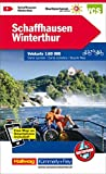 Schaffhausen-Winterthur: Nr. 1, Velokarte 1:60 000, waterproof, Free Map on Smartphone included (Kümmerly+Frey Velokarten)