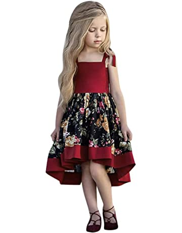 1ae0d7de33a Gufenban Baby Girl Pageant Flower Girl Dress Kids Fancy Wedding Bridesmaid  Gown Formal Halter-Neck