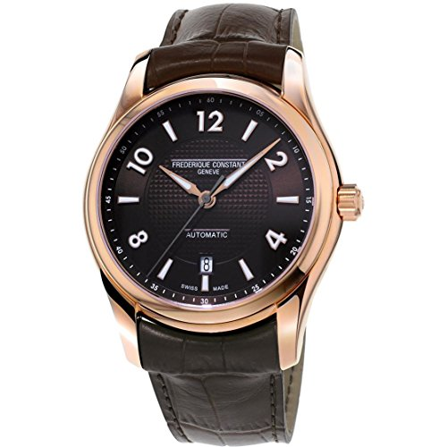 Frederique Constant Men's 'Runabout' Automatic Stainless Steel and Leather Casual Watch, Color:Brown (Model: FC-303RMC6B4) -