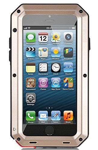 iPhone 5S Case,Gorilla Glass Luxury Aluminum Alloy Protective - Metal Iphone 5 Bumper Case