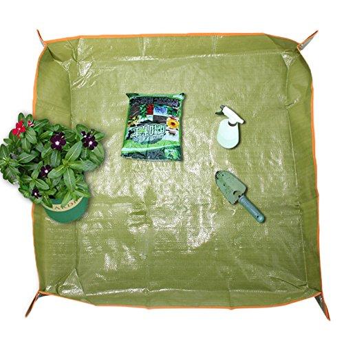 LEEPRA 35x35 Inch PE Coating Flower Pot Ground Cloth Gardening Transplant Pruning Ground Mat by LEEPRA