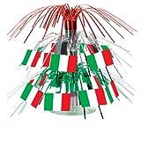 Beistle 50105 Italian Flag Miniature Cascade Centerpiece, 71/2-Inch