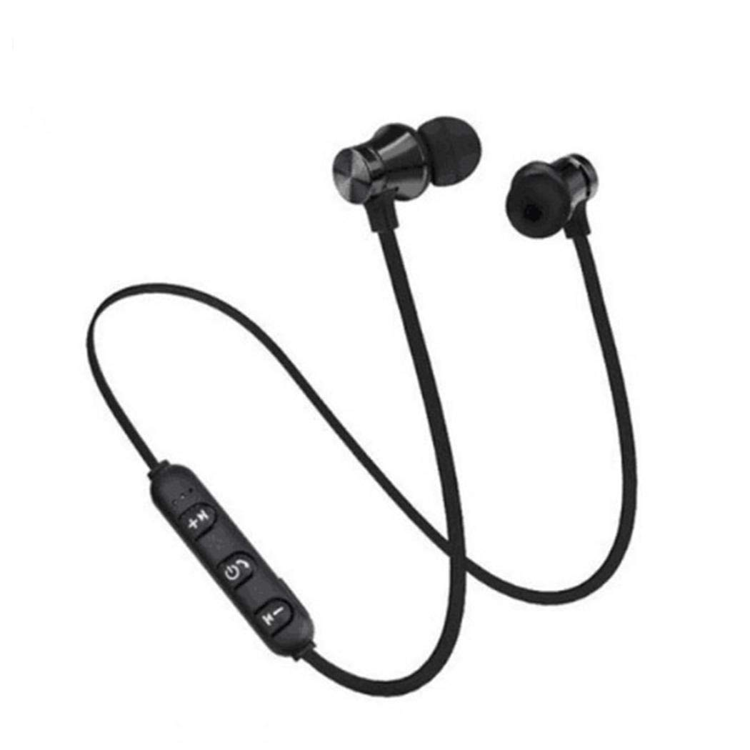 Gonikm Bluetooth Headphones,Qualteus Magnetic Wireless Earbuds, 4.1,8H HiFi Stereo in-Ear Sweatproof IPX6 Sport Headsets for Gym Workout Earphon Bluetooth Headsets