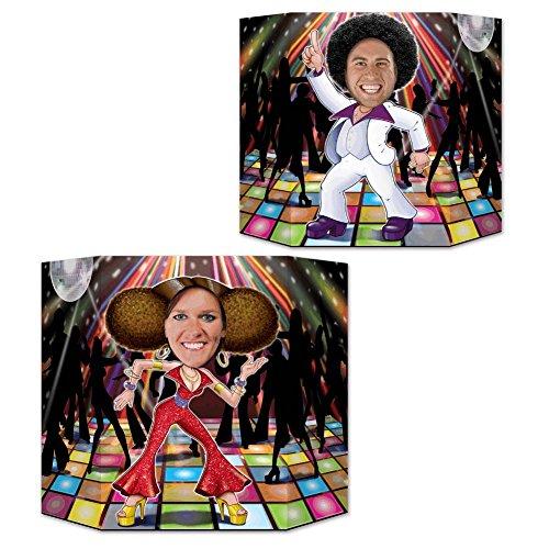 Beistle 54617 Disco Couple Photo Prop, 3' 1