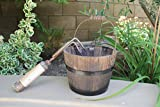 Cheung's FP-3767 Home Decorative Accent Wooden Bucket with Handle