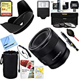 Sony FE 50mm F2.8 Full Frame E-Mount Macro Lens (SEL50M28) + 64GB Ultimate Filter & Flash Photography Bundle