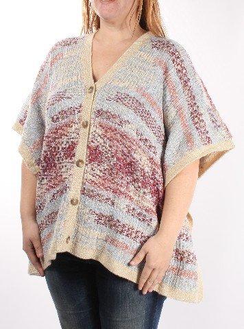 - Lucky Brand Women's Intarsia Poncho, Multi, One Size