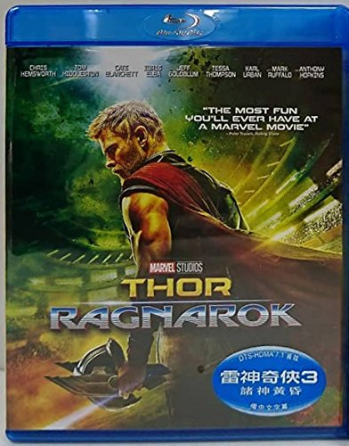 Thor  Ragnarok  Region A Blu Ray   Hong Kong Version   English Language  Mandarin Dubbed      3