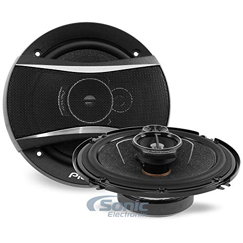 Pioneer TS-A1676R A Series 6.5 inch 320 Watts Max 3-Way Car Speakers Pair with Multilayer Mica Matrix Cone Design