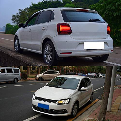 USEKA LED DRL faro delantero y trasero para Polo MK5 6R 6C TDI TSI ...