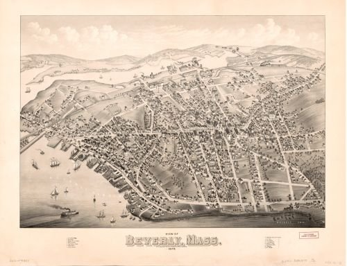 1879 Map View of Beverly, Mass. 1879. - Size: 18x24 - Ready to Frame - Beverly | Massachusetts | Bev